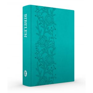 Bibelen på Hverdagsdansk, trend kunstlæder, turkis