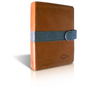 Bibelen på Hverdagsdansk (lommeformat i brunt skind m/gråt spænde)
