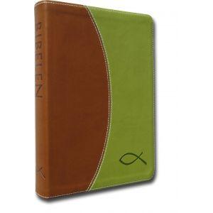 Bibelen på Hverdagsdansk (grønt/brunt PU-skind)